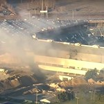 Felrobbantották, de még mindig áll ez a detroiti stadion – videó