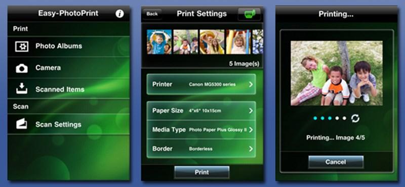 Nyomtatás iPadről és iPhone-ról az új Canon PIXMA nyomtatókra