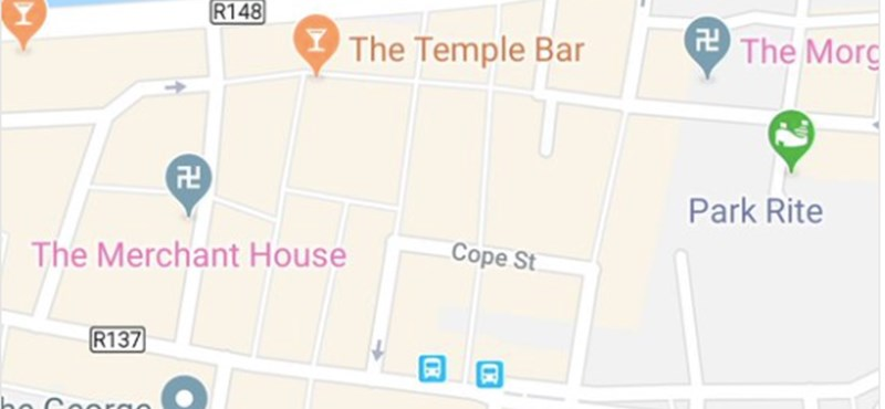 """""""Horogkereszt"""" jelent meg a Google Térképben"""