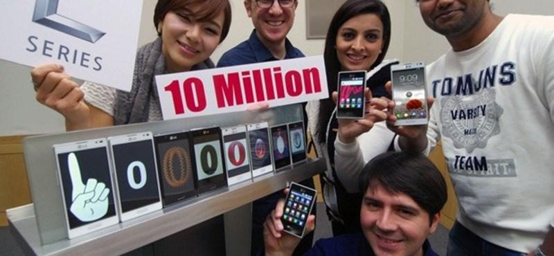 10 milliónál az LG L-szériás Android mobiljai