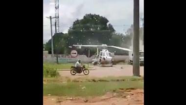 Egy helikopter gyakorlatilag megskalpolt egy óvatlan teherautót – videó