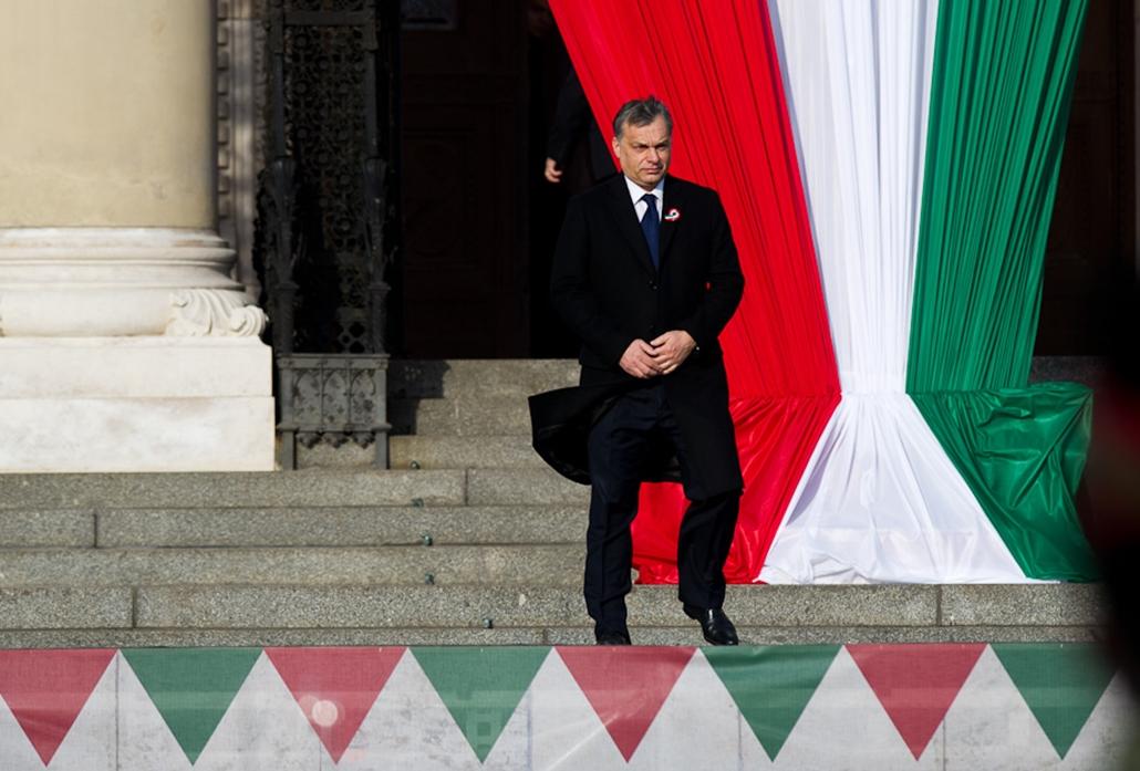 március 15, zászlófelvonás, Parlament , Orbán Viktor