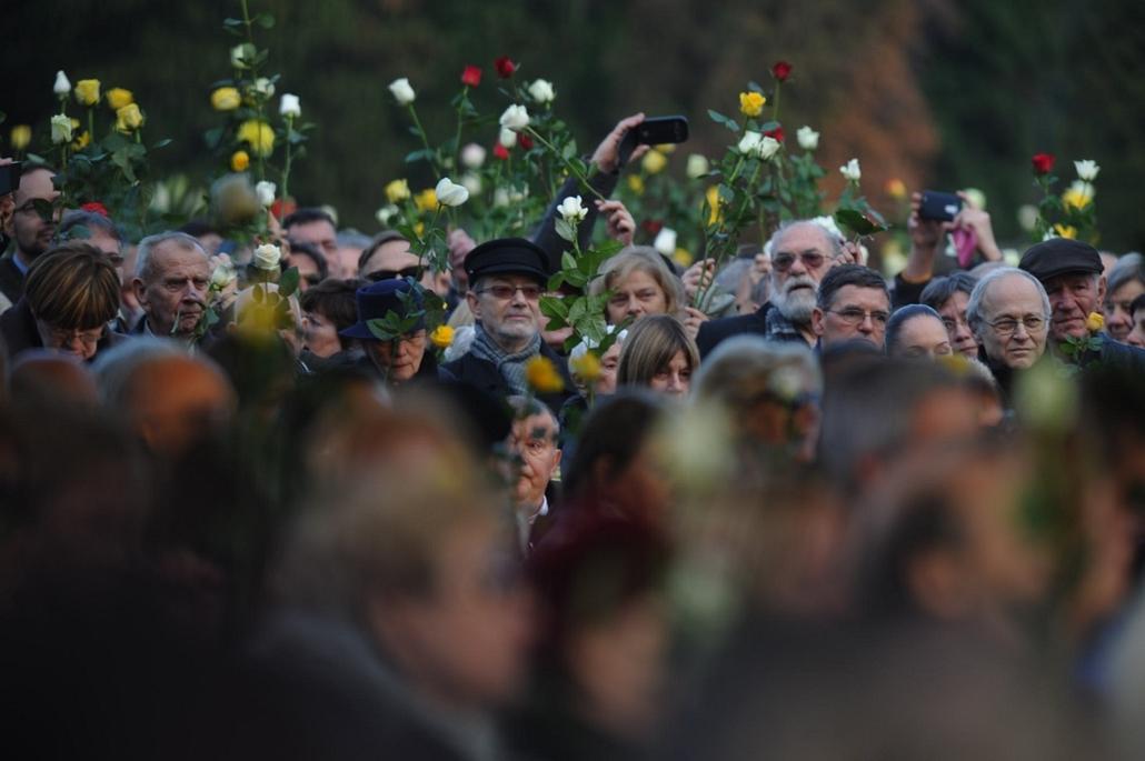 tg. Göncz Árpád temetése, 2015.11.06. Óbudai temető,
