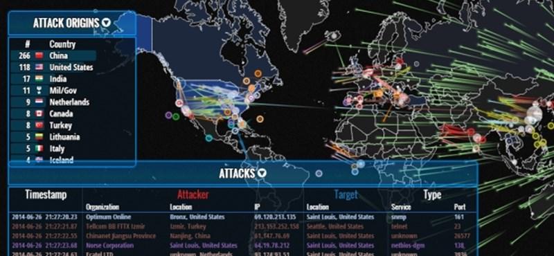 Egyetlen kattintás, és élőben nézheti a világ hackertámadásait