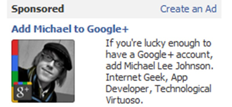Facebook - Google+ viszály: a letiltott reklám