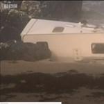 Meghalt, amikor az Ali vihar lefújta az ír sziklafalról a lakókocsiját – fotók, videók