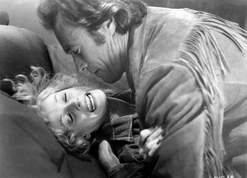 afp.1980. - Clint Eastwood és Sondra Locke a Bronco Billy egyik jelenezében 1980-ban.