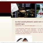 Szaúdi pilótanő: autót nem vezethet, de repülőt igen
