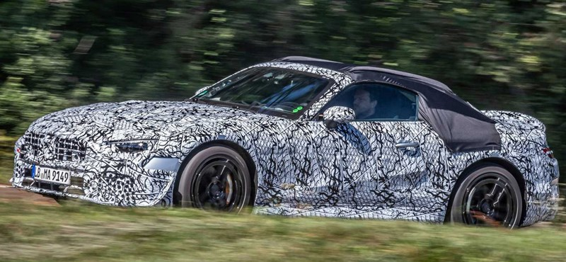 Kémfotókon az akár 800 lóerőre is képes új Mercedes SL