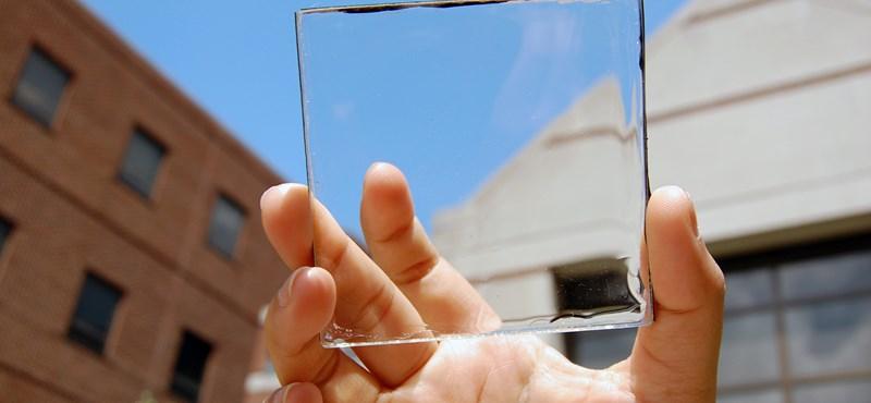 Mintha csak üveg lenne: videón a teljesen átlátszó napelem