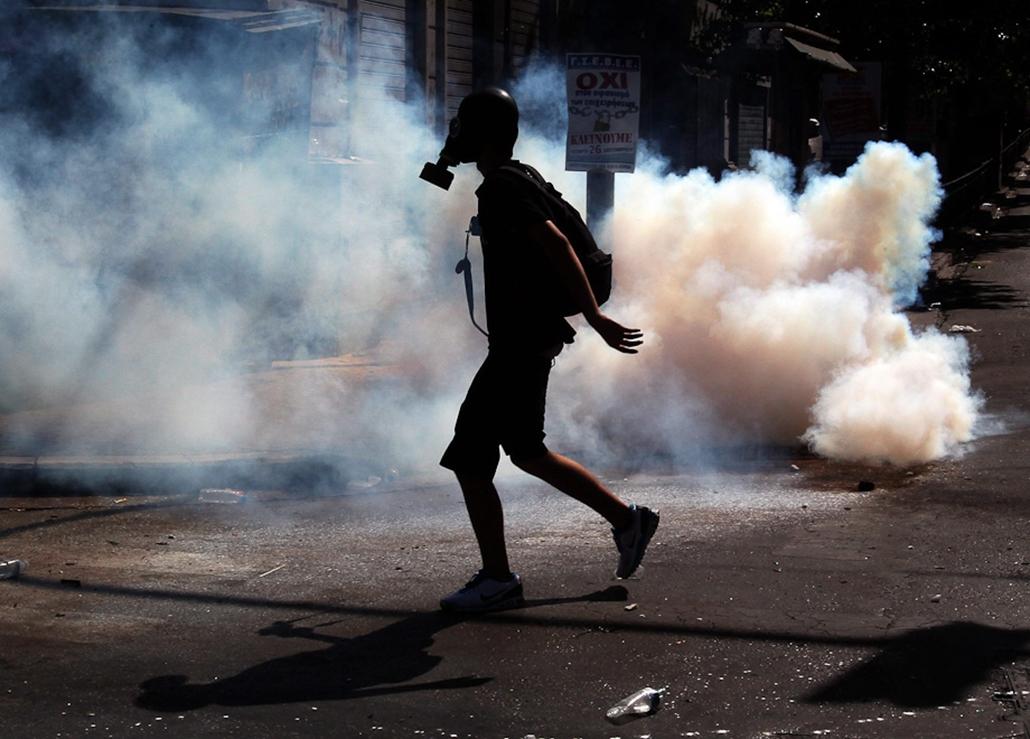 Görögország, sztrájk, hét képei