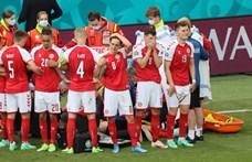 Félbeszakadt a Dánia - Finnország mérkőzés – percről percre közvetítés az Eb-ről a hvg.hu-n
