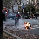 Nem érdekli a sárgamellényeseket a koronavírus, tovább tüntetnek Franciaországban