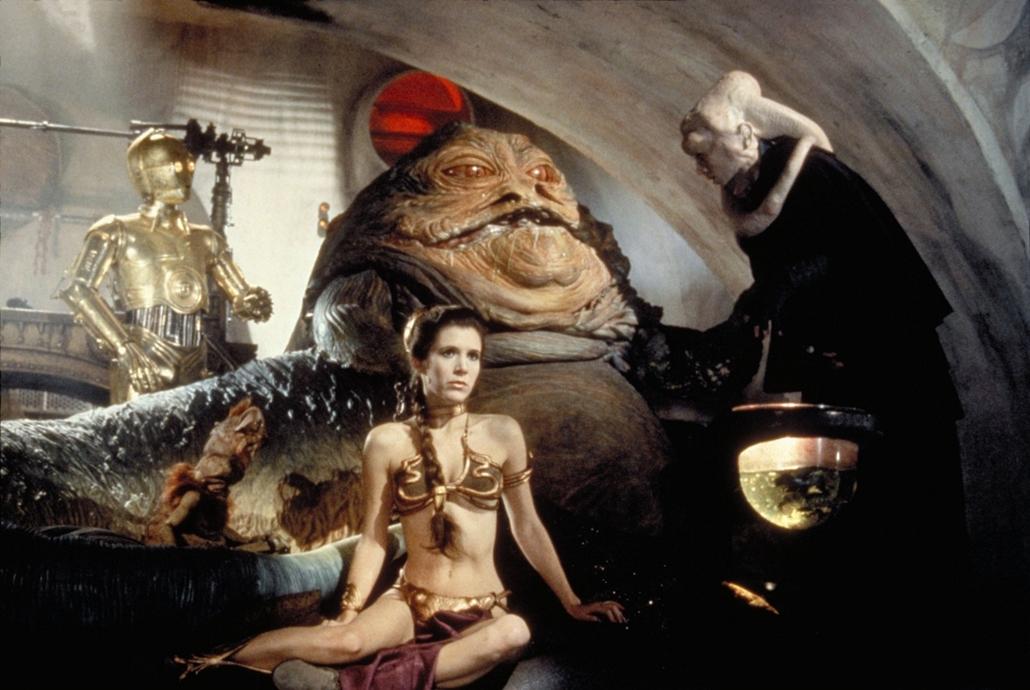 afp.1983. - Star Wars VI. - A Jedi visszatér - Carrie Fisher - melltartó nagyítás