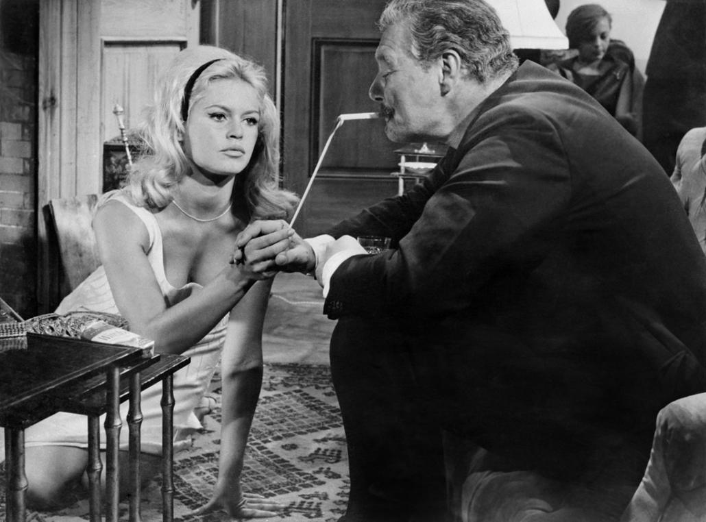 afp.1961. - Brigitte Bardot a ''Vie privée / Magánélet'' című film forgatásán - Brigitte Bardot nagyítás