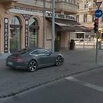 Polgárpukkasztó budapesti parkolás: a Porschénak bérelt helye van a járdán?