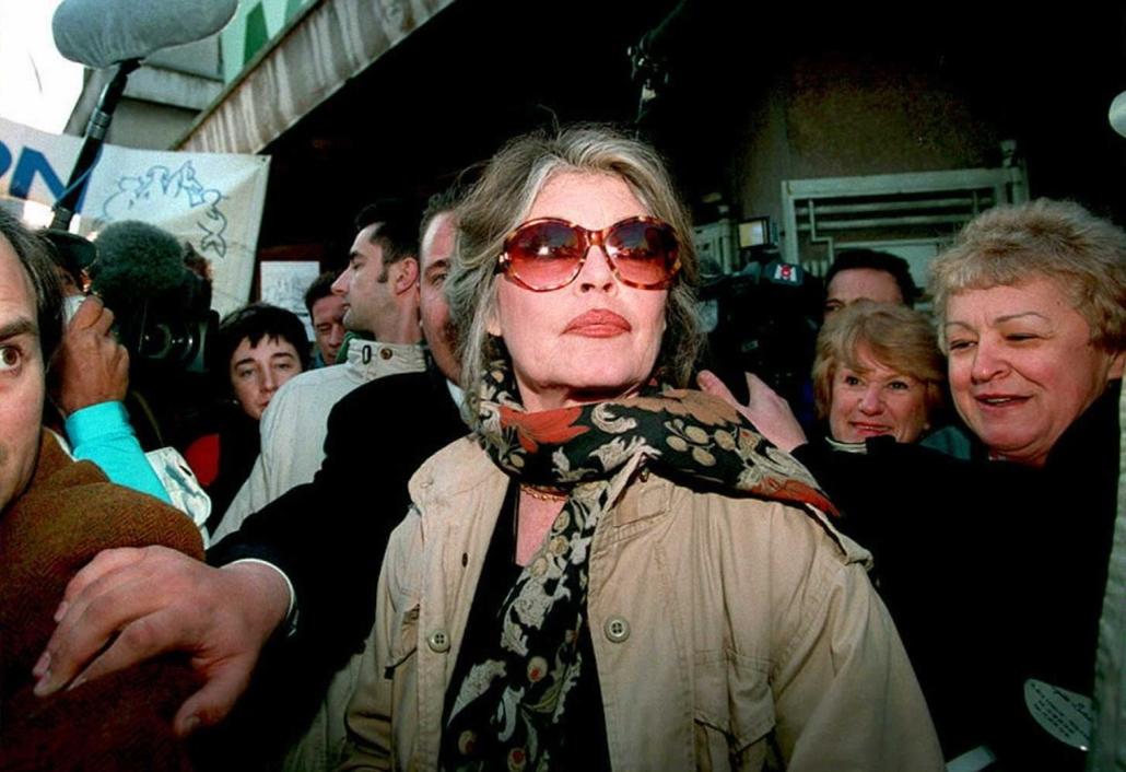 afp.1995.02.26. - Párizs, Franciaország: a ''Brigitte Bardot Alapítvány'' egyik rendezvényén - Brigitte Bardot nagyítás