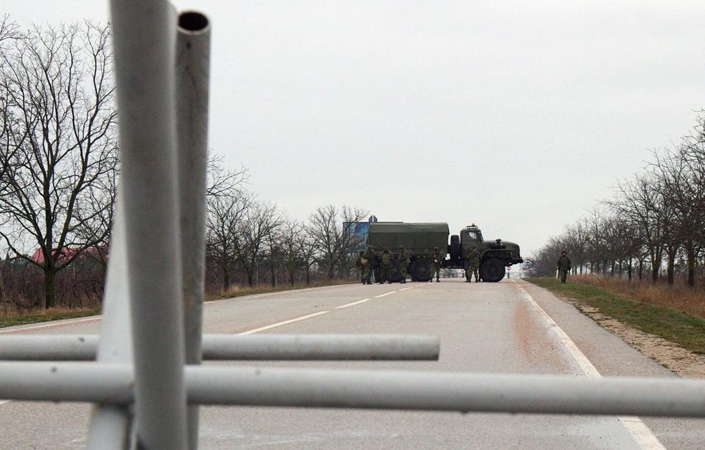 afp.14.02.28. - Sevastopol, Ukrajna - ukrán válság - Krím félsziget