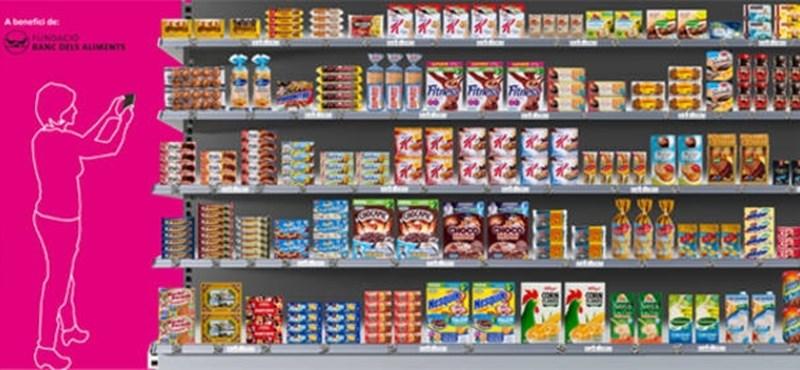 Barcelonai az első európai virtuális szupermarket a metróban