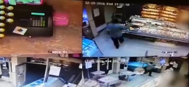 Videó: Pár pillanat alatt rabolt ki ez a fegyveres egy budai pékséget tegnap este