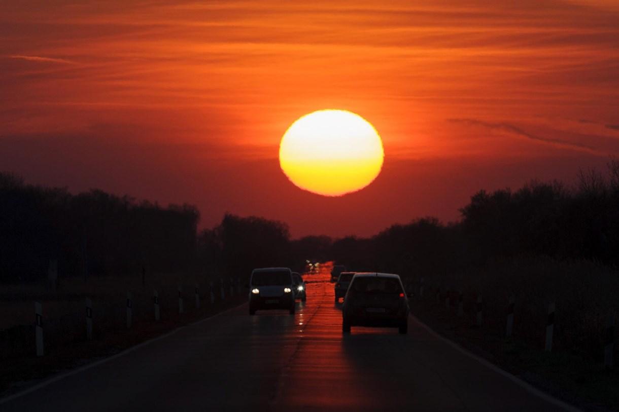 Fotó: elképszetően gyönyörű volt ma a naplemente a Hortobágyon
