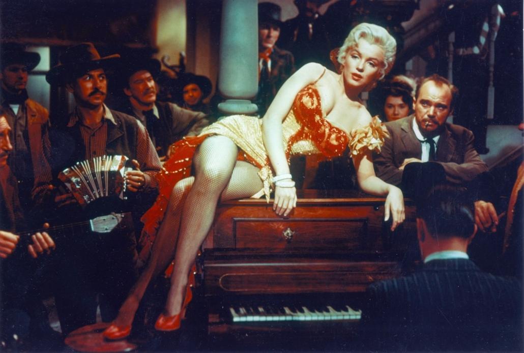afp.1954. - Marilyn Monroe ''A folyó, ahonnan nincs visszatérés'' című filmben. nagyítás
