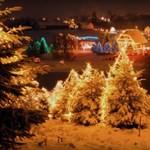 Özönlenek turisták egy horvát család karácsonyi fénykertjéhez – videó