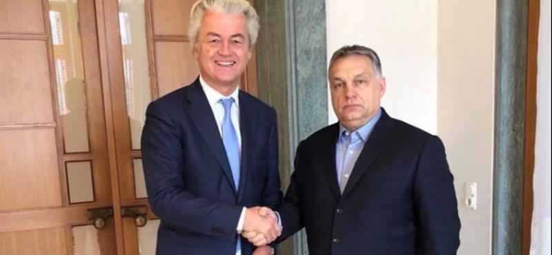 Könyvet vitt Orbánnak a holland szélsőjobb vezetője
