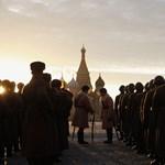 Jelmezes felvonulás a Vörös Hadsereg díszszemléjének hetvenedik évfordulóján - fotógaléria