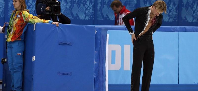 Dráma: bemelegítéskor sérült meg az oroszok műkorcsolyázó bajnoka