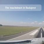 Szép felvétel készült az első pesti Emirates-gépről – videó
