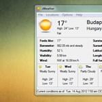 Egyszerű, de informatív időjárás-előrejelző program Windowsra
