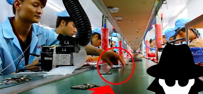 Videó: rejtett kamerával egy kínai okostelefon-gyárban