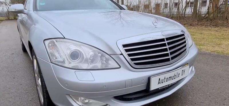 Így száguld egy régi dízel Mercedes S-osztály az Autobahnon – videó