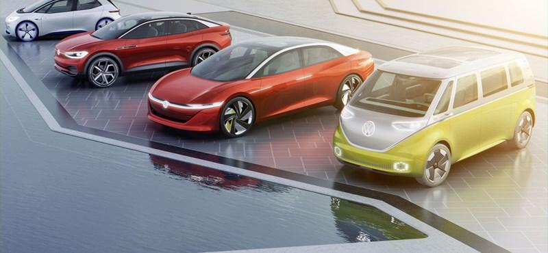 Őrült offenzívába kezd a Volkswagen: 70 elektromos modellel jönnek