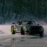 Befagyott tavon driftel az idei év egyik legizgalmasabb Ford Mustangja – videó