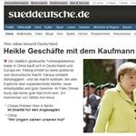 A Süddeutsche Zeitung szerint balgaság Magyarország függőségi viszonya Kínától