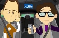 A magyar Sheldon szépen helyreteszi a vezetés közben mobilozókat