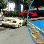 Úszómedencés BMW-t kaptak el a rendőrök – fotó