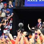 Trump rákapcsolt a választási kampányra