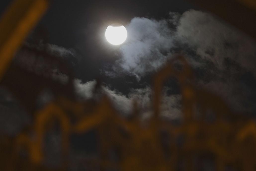 afp.15.09.28. - Netanya, Izrael: - holdfogyatkozás, szuperhold
