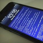 iPhone-on is felütötte a fejét a kék halál