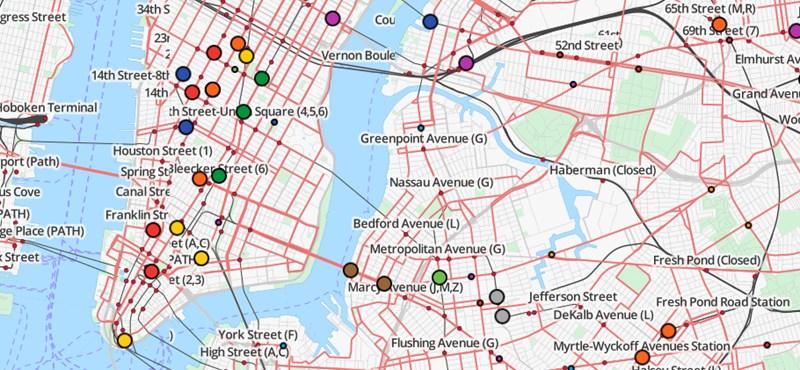 Fantasztikus látvány: egy térképen a világ tömegközlekedése