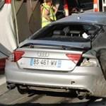 Ennyi maradt egy 200-nál elszállt A7-es Audiból – fotók