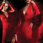 Akarjuk: vörös Donna Karan ruha