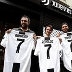 Négy gőlt lőtt első juvés meccsén az ifjabbik Cristiano Ronaldo