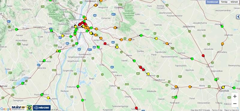 MÁV: van, ahol 60-80 perces késésre kell számítani a havazás miatt