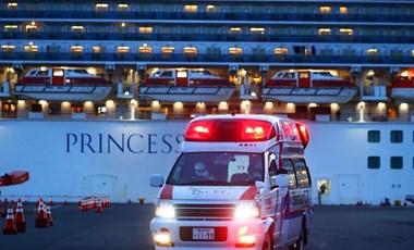 Már 175 utas kapta el a koronavírust a japán partoknál álló üdülőhajón