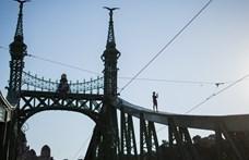 A Dunába esett egy férfi a Szabadság hídról
