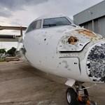 Csúnya sérüléseket szenvedett egy jégviharba került gép Zambiában, csoda, hogy egyben leért